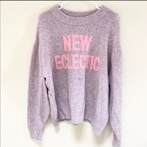 """H&M """"New Eclectic"""" lavender sweater large"""